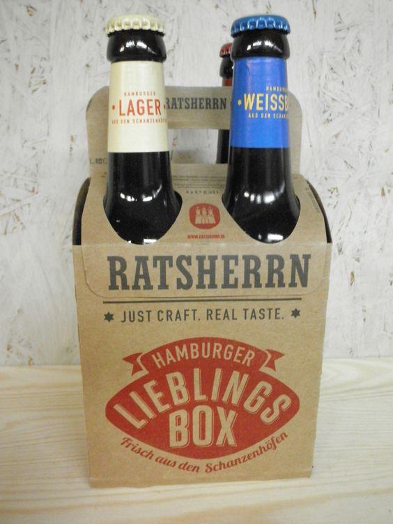 Ratherren Hamburger Lieblings-Box Inhalt: 4 verschiedene Biere