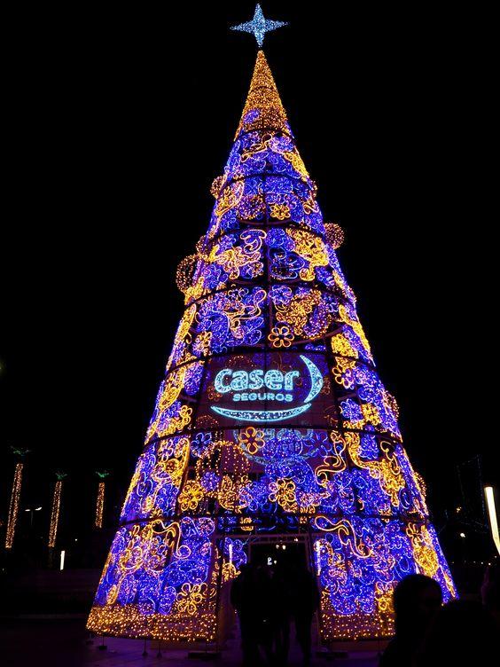 Luminous Christmas Tree in Sevilla, Andalucia
