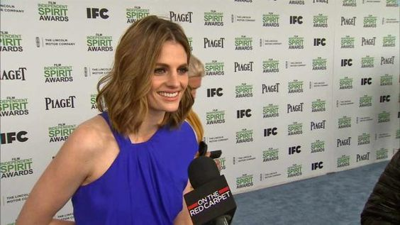 Stana on the red carpet at the 2014 Independent Spirit Awards