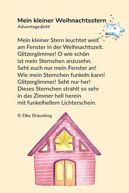 Der Kleine Weihnachtsabendsstern Der Kleine Weihnachten Weihnachtsabendsstern Kindergedichte Gedichte Zum Advent Kindergeschichten