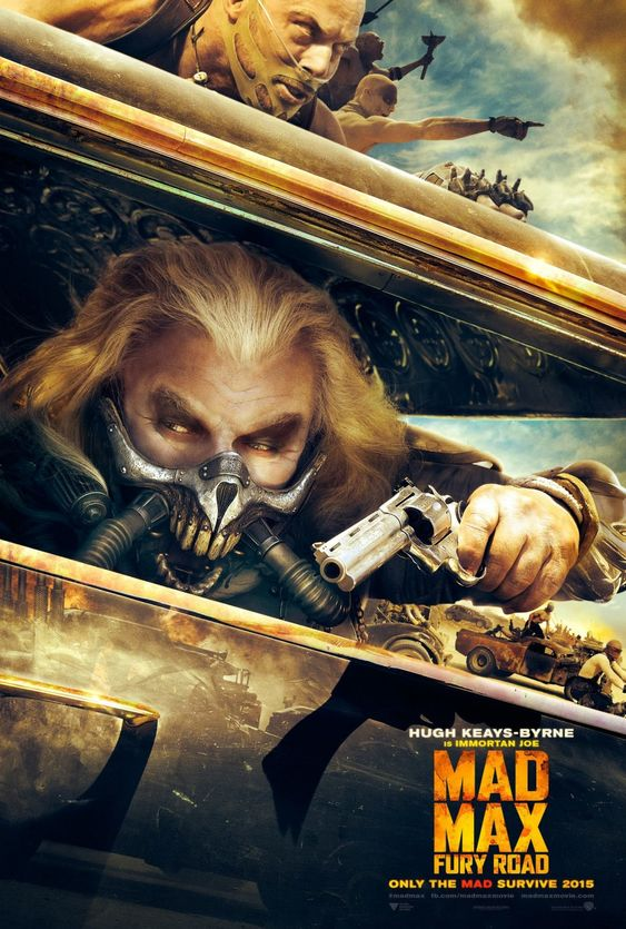 #MadMax Fury Road []  [2015] [] http://www.imdb.com/title/tt1392190/?ref_=nv_sr_1 [] official TV spot [30s] https://www.youtube.com/watch?v=Rch8bNjCnR4 [] [] official taiwanese TV spot [30s] https://www.youtube.com/watch?v=qjdMlzOH1aE [] official trailer [149s] https://www.youtube.com/watch?v=YWNWi-ZWL3c []