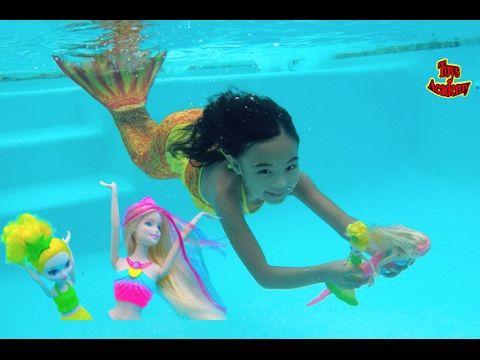 تعلم الألوان مع حورية البحر في الحياة الحقيقية التظاهر اللعب إصبع الأسرة أغنية أغاني الأطفال Youtube Mermaid Barbie Play Barbie Chelsea Baby
