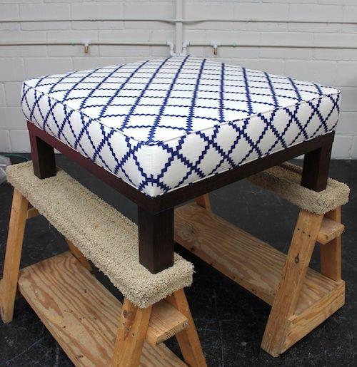 DIY square ottoman