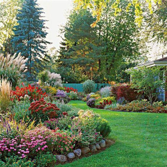 garten anlegen gartengestalten blumenbeete bunt Gardening