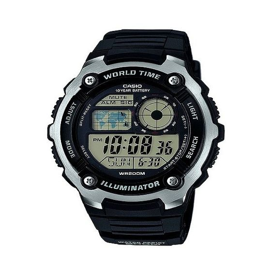Casio Men's Performance Stainless Steel Wristwatch ($30) ❤ liked on Polyvore featuring men's fashion, men's jewelry, black and mens watches jewelry