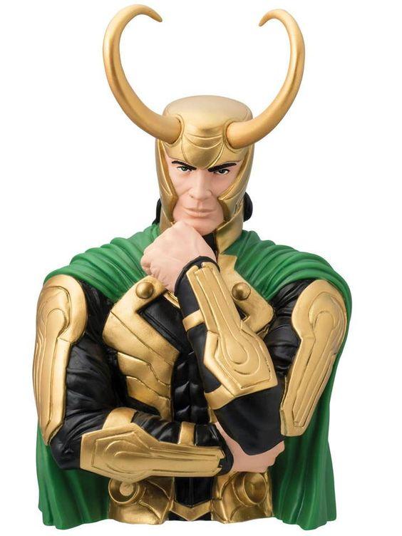 Marvel Comics Spardose Loki 20 cm  Marvel Comics Spardosen - Hadesflamme - Merchandise - Onlineshop für alles was das (Fan) Herz begehrt!