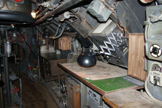"""Film set of Das Boot at the Bavaria Film Studios. Set de filmación de """"El Barco"""" en los Estudios Bavaria."""