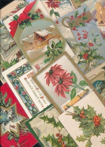 Beautiful Lot of 20 Vintage Christmas Postcards-Antique-eee143