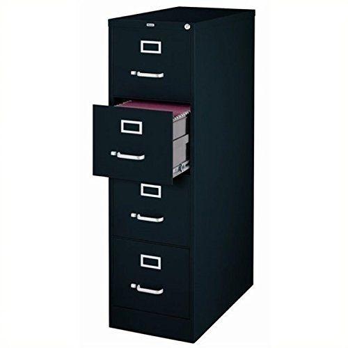 Scranton Co 4 Drawer 22 Deep Letter File Cabinet In Black