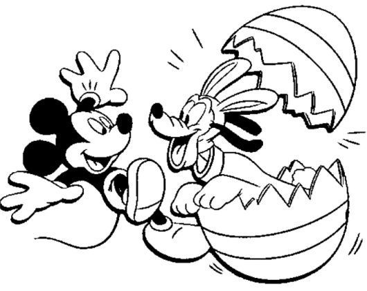 Pin By Lala On M W Pluto Easter Coloring Pages Mickey Mouse Coloring Pages Disney Coloring Pages