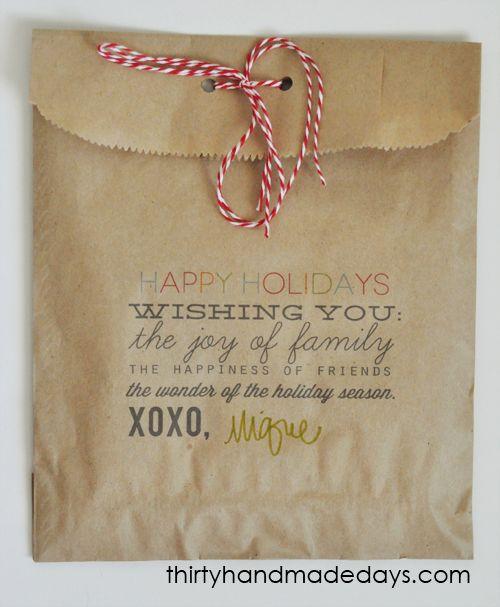 gift bag printable