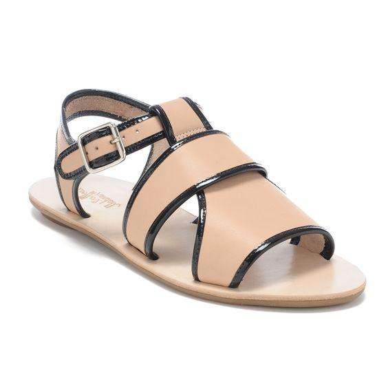 Add a little bit of punctuation to your summer dress with these Loeffler Randall leather #sandals. #shoes