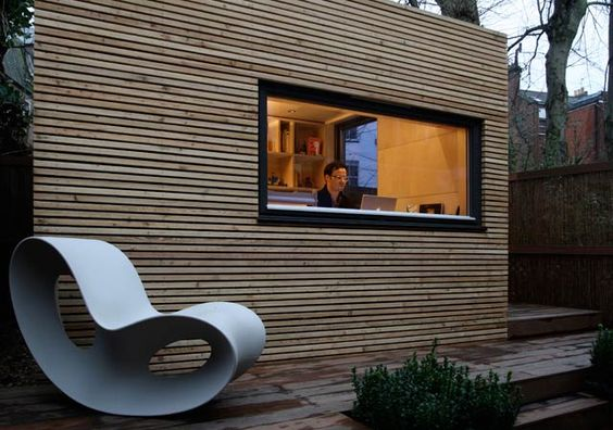 The Rise of the Backyard Office. Modern Garden Office by EcoSpace.