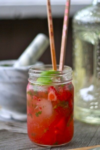 Strawberry Basil Lime cocktail