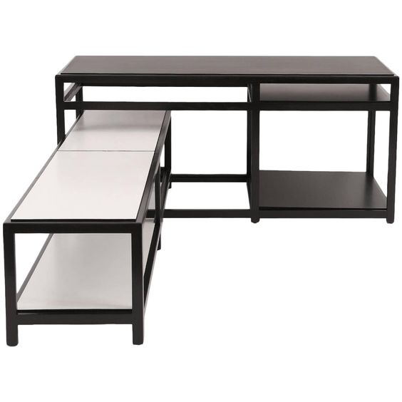 Interlocking Ebonized Tables by Wormley for Dunbar 1 | 1stdibs.com This would be great with a sectional!