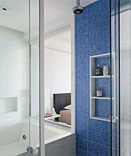 Banheiros com Pastilhas Azul   Modernos e Luxuosos   Decora    o