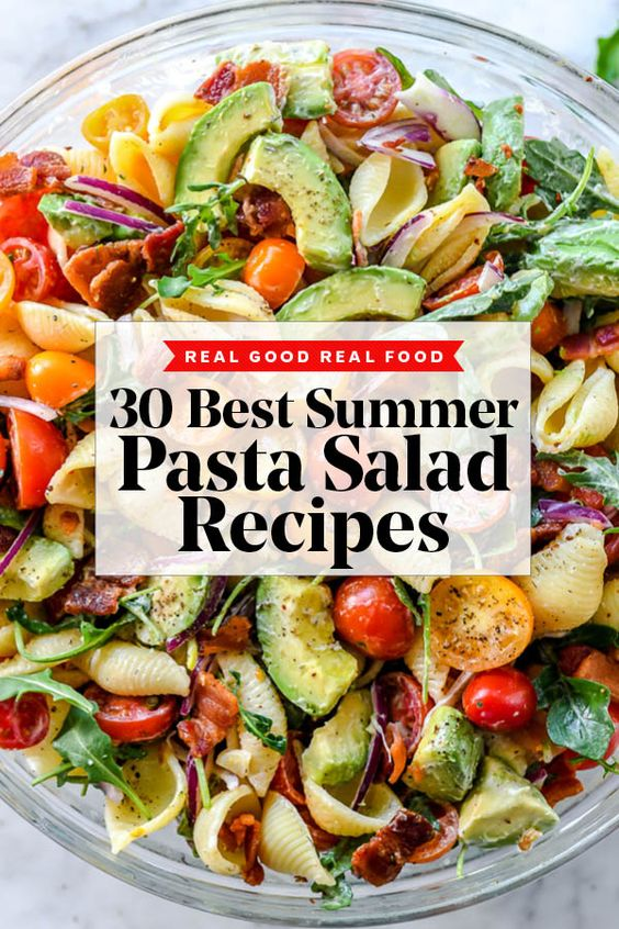 30 Pasta Salad Recipes to Make All Summer Long | foodiecrush .com
