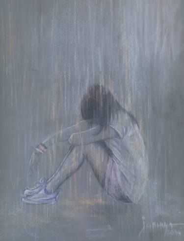 "Saatchi Art Artist jovica kostic; Drawing, ""SAD RAIN"" #art"