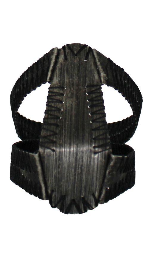 Jonathan Hens - THENE-W-AGE2 - DARK PARADISE #1 2013 bracelet - pewter/ sutures/ plastic: