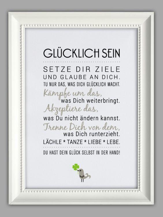 """""""GLÜCKLICH SEIN"""" Kunstdruck"""