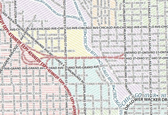 Street map of Chicago infographic