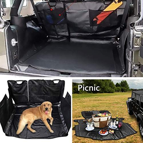 Ecowlboy Pet Seat Car Rear Cargo Trunk Seat Cover Us Flag