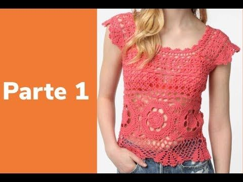 Https Crocheparainiciantes Net Blusa Rosa Parte 1 Corpo Linha Camila Fashion Youtube Crochet Dress Crochet Ladies Tops Crochet Tunic Pattern