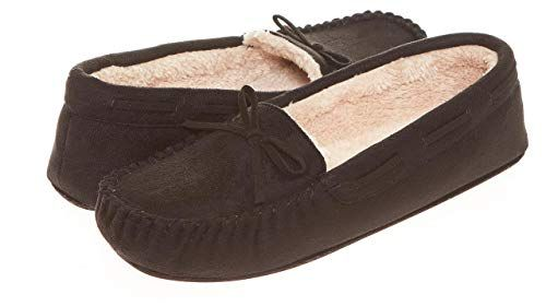 Seranoma Womens Moccasin Slippers House Slippers,Soft and Comfortable,Faux Fur