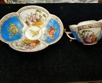Dresden Figural Scenic Cup Saucer