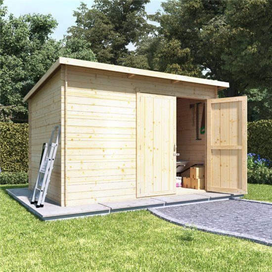 10x8 Log Cabin Ouble Oor Billyoh Pent Log Cabin Windowless Heavy Duty Shed Range 19 In 2020 Garden Buildings Direct Building A Shed Garden Sheds For Sale