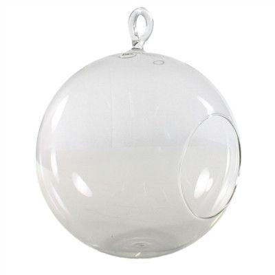 Huge 200mm Hanging Glass Bubble Terrarium Vase Candle Holder