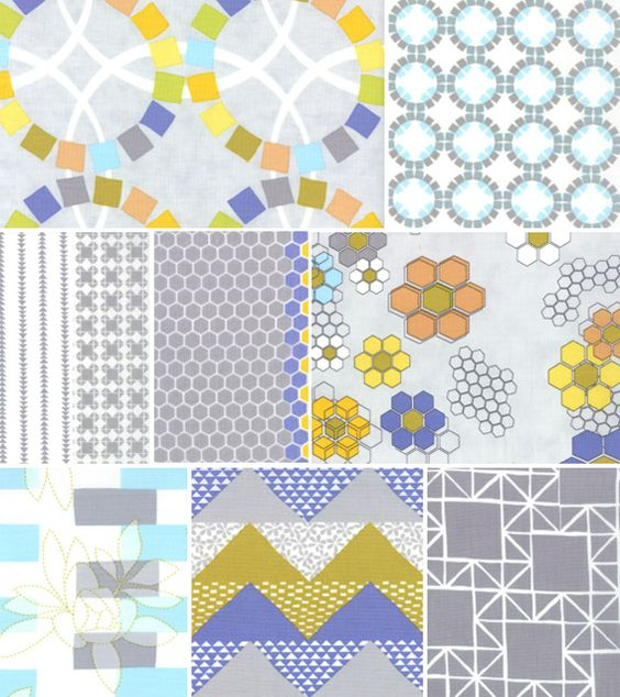the long thread's fabric line for moda, these are so pretty. love her design thoughts too.
