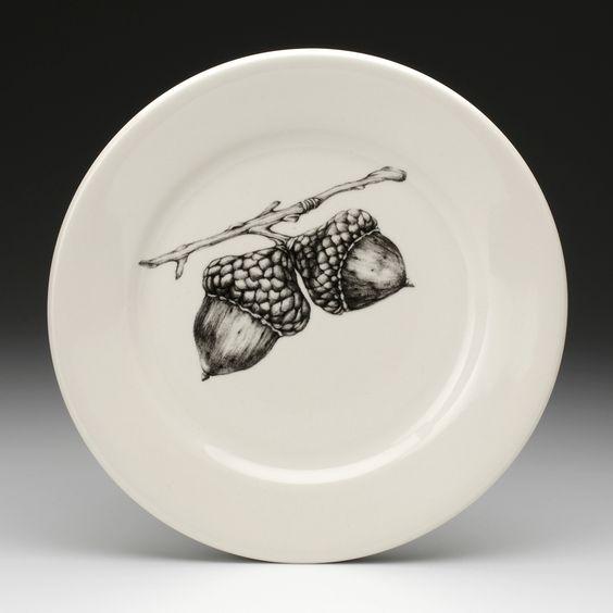 Laura Zindel Design - Dinner Plate: Double Acorn, $50.00 (http://www.laurazindel.com/dinner-plate-double-acorn/)