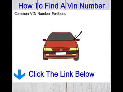 How To Find A Vin Number Discover Where To Find A Vin Number On A Car Vin Discover Locations