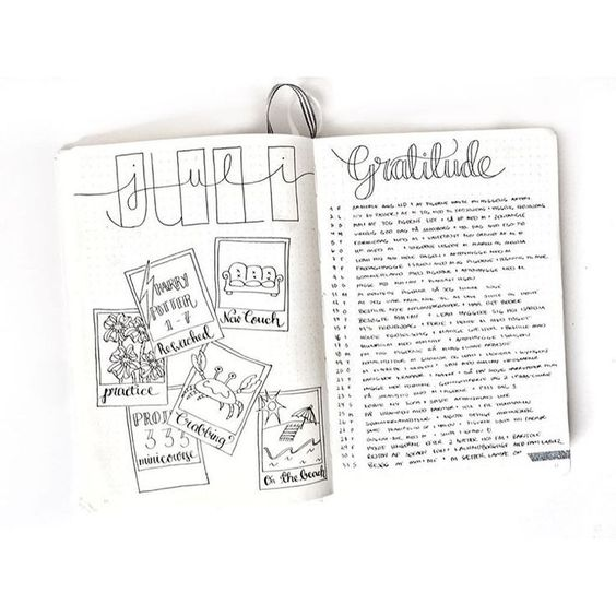 bullet journal page ideas, bullet journal weekly spread, Bye bye July - you've been a blast! Credit for the polaroid-idea to…