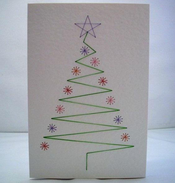 leicht sch ne weihnachtskarten selber basteln zeichnen. Black Bedroom Furniture Sets. Home Design Ideas