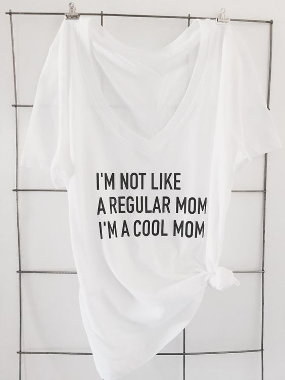 I'm not like a regular mom I'm a cool mom tee. if you're a mom, love mean girls or amy poehler (or both) this shirt is for you.