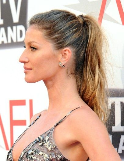 haircuts for guys gisele bundchen ponytail hairstyle for hair 1837