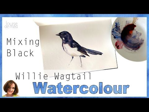 How To Paint A Bird In Watercolor How To Mix Black Watercolor