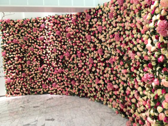 wall of flowers. like a dream.: