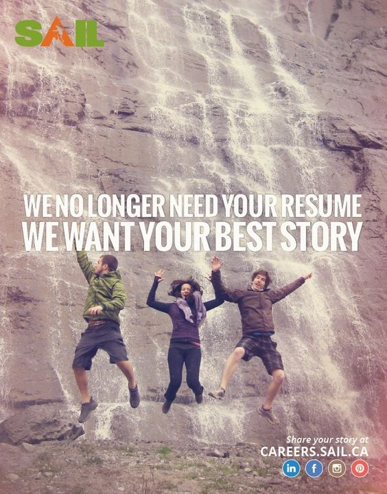 What's YOUR best story? Tell us at careers.sail.ca