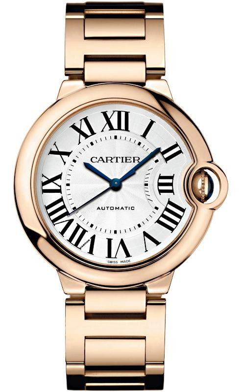 Wgbb0008 Cartier Ballon Bleu 36 Mm 18k Pink Gold Bracelet Watch