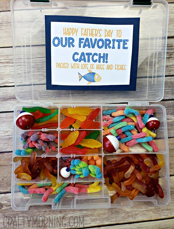 Tackle Box Candy Father's Day Gift - Crafty Morning
