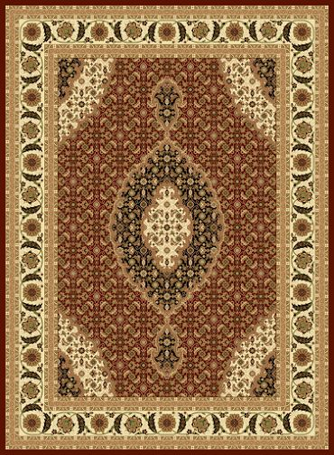 Design T02 Burgundy 100% Polypropylene Durable Powerloomed Persian Rug