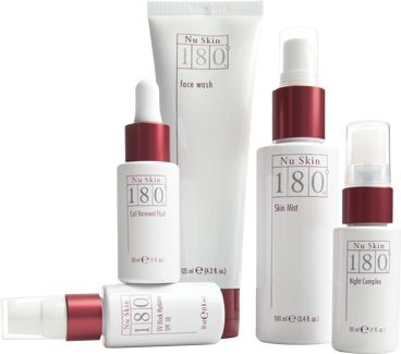 Nu Skin 180 Anti-Aging Skin Therapy System. Face wash, skin mist, day/night moisturizers.