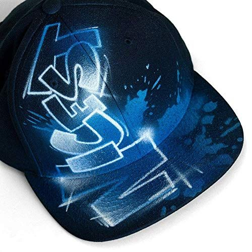 Airbrushed Snapback Hat With Your Custom Graffiti Text Nargraffiti Graffiti Graffiti Text Custom Airbrushing