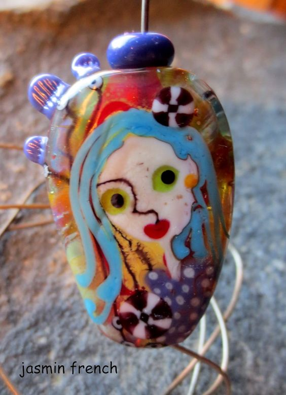 °°jasmin french°° lampwork beads night creeper on ebay.com