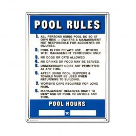 Your New Pool Rules Sign From Will Help You