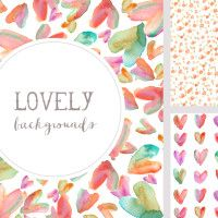Watercolor Hearts Backgrounds   angiemakes.com