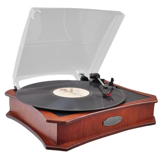 Oliver Mahogany Closed Top Vintage Style Record Player